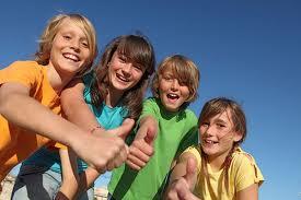 Glada elever