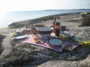 Kvällsmat på klipporna 21 maj 2012