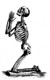 Skelett ber om nåd