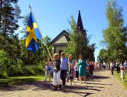 Skolavslutning med flagga