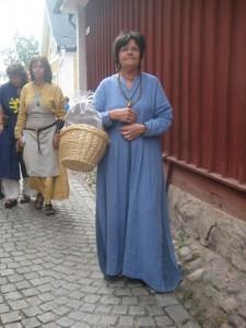 Susanne medeltida klädd 11 aug 2012