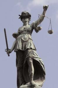 Justitia med ögonbindel