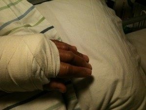 Min stackars hand