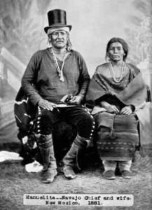 Navajo hövding med fru
