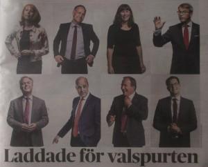 Partiledarna jättebra foto ur DN
