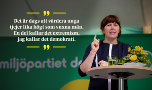 Miljöpartiet om kvinnor och män