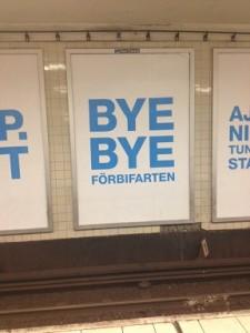 Bye bye Förbifart Stockholm