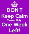 Bara en vecka kvar