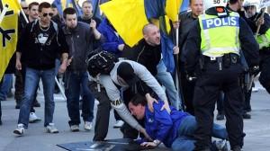 Svenskarnas parti demonstrerar i Eskilstuna