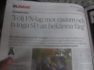 Sverige följer inte lagen vad gäller SD
