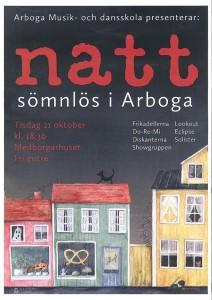 Affisch Arboga Musik och dansskola