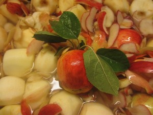 Bland skalade äpplen