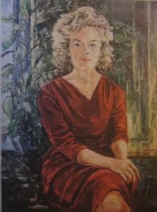 Tång Ingrid Larsson självporträtt som ung