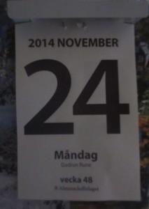 Datum 24 nov 2014