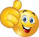 Glad smiley med tummen upp