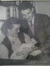 Mamma Pappa och jag som baby