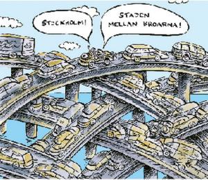 Stockholm staden mellan broarna