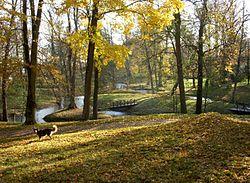 Engelsk park Tullgarns slott