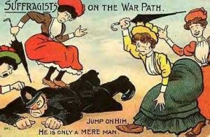 Suffragetter negativt framställda