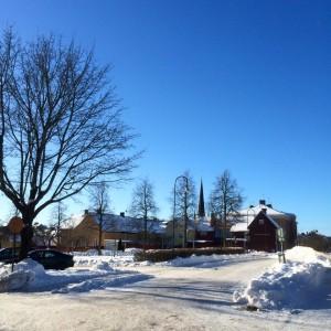 Arboga från Östra Nygatan 8 febr 2015