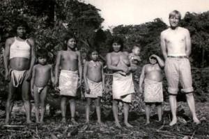 Tord W med indianer 1956