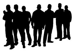 Grupp av män