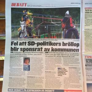 Expressen papperstidningen 3 aug 2015