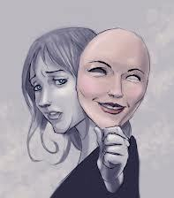 Bakom masken kvinna