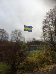 Flaggan imorse från FB