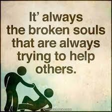 Broken souls hjälper andra