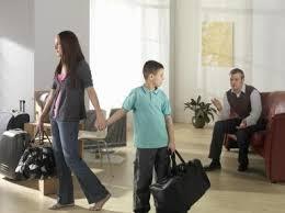 Mamma flyttar från pappa