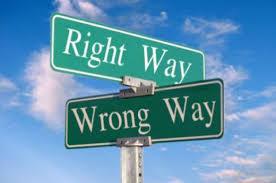 Rätt väg eller fel