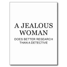 Svartsjuk kvinna bättre än detektiv
