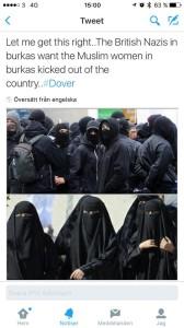 Män mot burka...