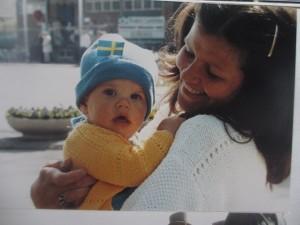 Susanne och Carl-Johan när kungen och Silvia besökte Arboga