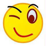 Blnikande smiley