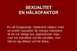 Sex en hälsofaktor