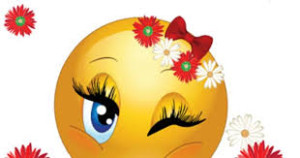Smiley flirtar