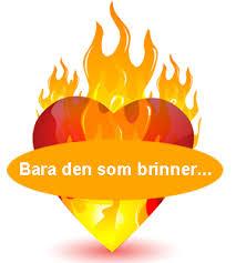 Bara den som brinner blir utbränd