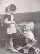 Barnen Wahlfeldt vid pass 1958