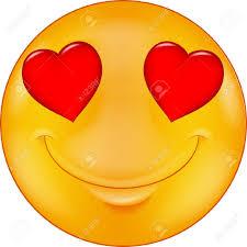 Smiley med hjärtan