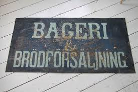 Bageri och bröd skylt